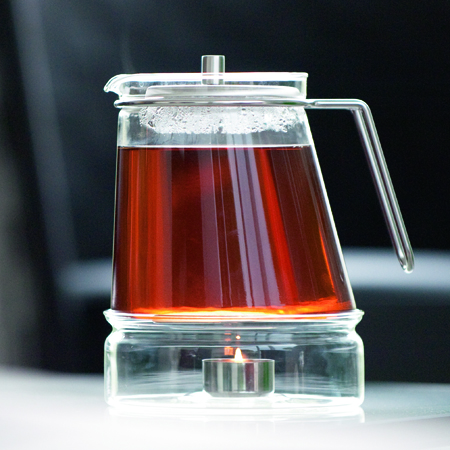 "TEAPOT ""ELLIPSE"" WITH WARMER BY MONO"